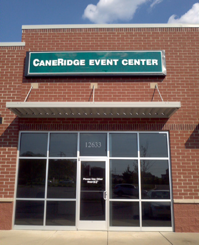 Front Entrance of Cane Ridge Event Center Rental Space